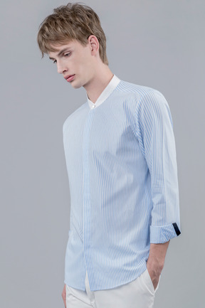 17ss White neck stripe shirts(40% OFF)