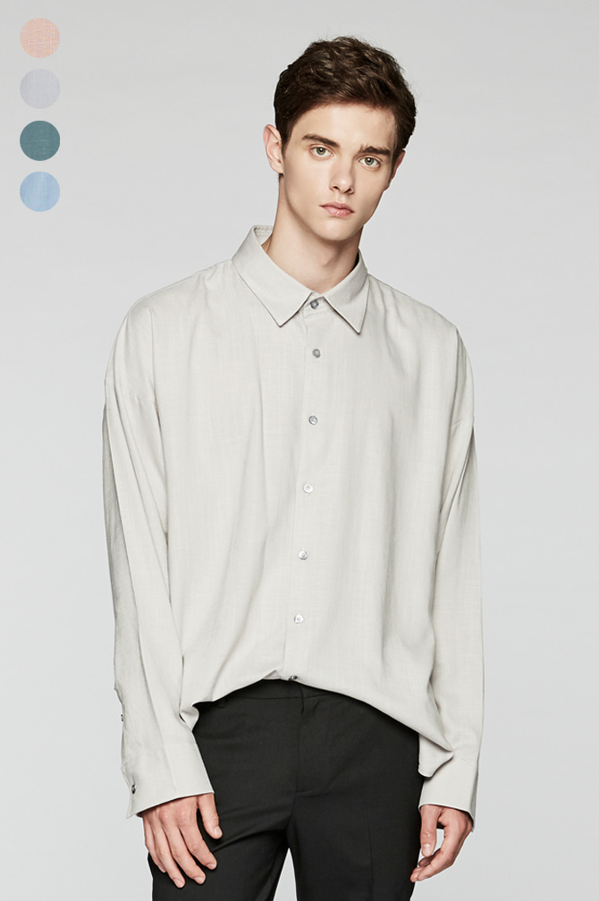 17ss Linen Loose-fit Shirts주간 베스트셀러